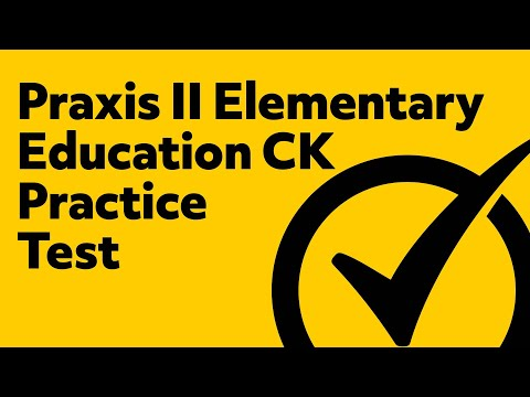 Praxis II Elementary Education: Content Knowledge (5018) *FREE* Practice Test