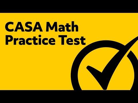 CASA Exam - Math (035) Practice Test
