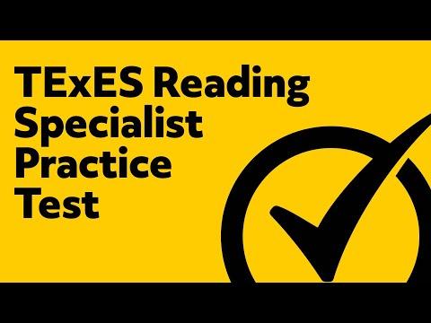 TExES Reading Specialist Practice Test