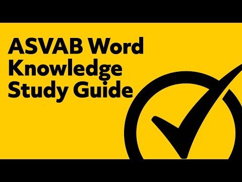 ASVAB Word Knowledge Study Guide (2019)