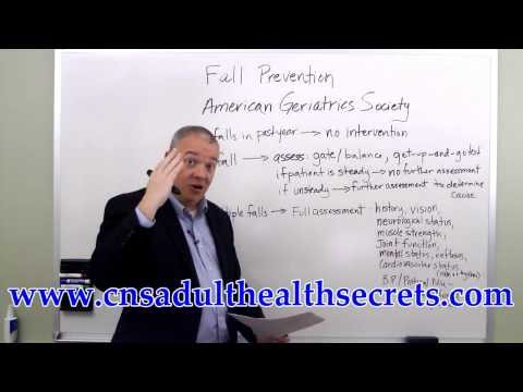 CNS Adult Health Exam Fall Prevention