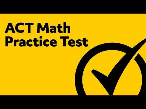 ACT Math (Practice Problems)