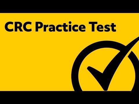 CRC Exam 2019 Practice Test
