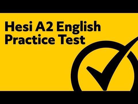 Hesi A2 English Practice Test