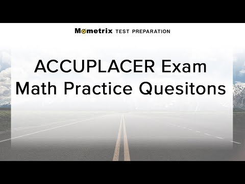 ACCUPLACER Math Test Prep