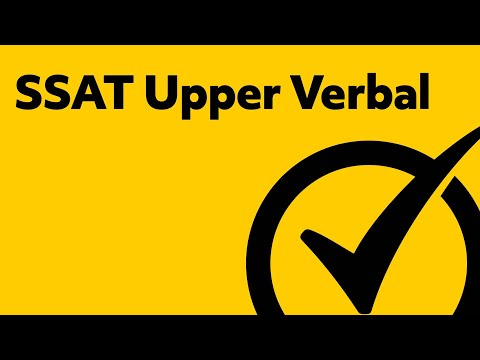 SSAT Upper Verbal Study Guide